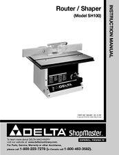 Delta SH100 Router/Shaper Instruction Manual