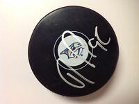 Ryan Johansen Signed Autographed Nashville Predators Hockey Puck b