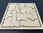 Animal Chunky 11 Piece Puzzle For Kids 9  x 9  Paint It Yourself Made In USA