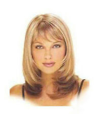 Hot Sell Fashion Long Blonde Mix Brown Straight Women's Lady's Hair Wig Wigs+Cap