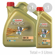 Castrol Edge TITANIUM 0W-30 Synthetic Engine Oil 0W30 - 5 litres (4L + 1L)