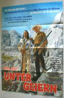 A1 Filmplakat , UNTERN GEIERN , KARL MAY,  Pierre Brice, Stewart Granger
