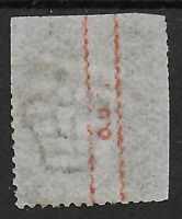 "SG43. 1d.Rose-Red Pl.197. FU With UNDERPRINT ""O.U.S."" In Red.  Ref:1269"
