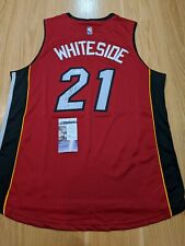 HASSAN WHITESIDE - Miami Heat Signed Authentic Adidas Swingman Jersey With COA