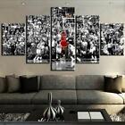 5-Piece Black & White Michael Jordan Shot Canvas Wall Art Print