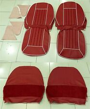 SEAT COVER REPLACEMENT RED/WHITE MG B (Tapizado asientos rojo/blanco) SCR3020
