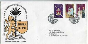 Sierra Leone 1978 25th Anniversary of the Coronation FDC