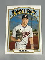 Rich Hill 2021 Topps Heritage ⚾️ High Number # SP #437 Minnesota Twins