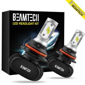 9007 HB5 CSP LED Headlight Bulbs  High Low Beam Conversion Kit 6500K Super White