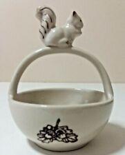 Andrea By Sadek Woodland Animals Collection Trinket Basket Bowl Squirrel Acorn