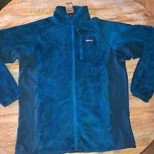 PATAGONIA Mens big sur blue R2 zip fleece jacket/NWT/ML