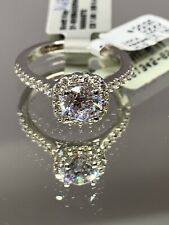 New! Scott Kay Namaste 14k White Gold Diamond Halo Ring 31-SK5842ERW $2,695!