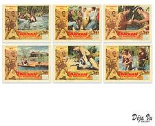Tarzan the Magnificent Lobby Card Set of 6 - Edgar Rice Burroughs - 1960 - VG