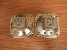 Pioneer Pair of vintage Cone speaker dome tweeters 94-01