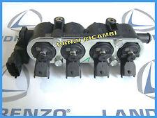 RAIL COMPLETO 4 INIETTORI TAPPO NERO IMPIANTO LANDI RENZO GAS GPL FIAT 77366187