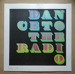 Ben Eine - DANCE TO THE RADIO 5Layers Screen Print with Black Glitter, SIGNED