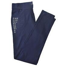 MUJER SIN CIERRES Elástico bordado pantalones talla grande pantalones 16-26