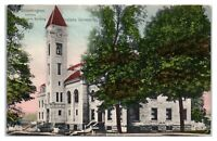 Student Building, Indiana University, Bloomington, IN Hand-Colored Postcard *6E2