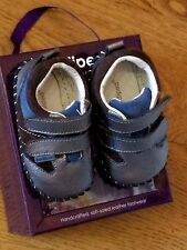 """New Pediped originals """"Grayson"""" Charcoal leather  soft sole shoes,12-18 mo,NWT"""