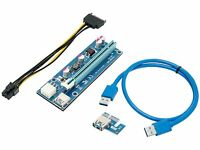 Mining Card, Riser Card, PCIe (PCI Express) 16x to 1x Riser Adapter, USB 3.0