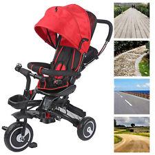 4in1 Dreirad Kinderdreirad Kinderwagen Fahrrad Baby Mit Schiebe Stange Tragbarer