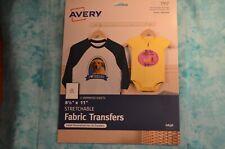 Avery Stretchable Fabric Transfers 3302 Transfers NIP 5 sheets