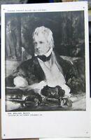 Postcard Art Sir Walter Scott by Sir Edwin Landseer - unposted