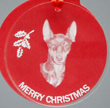 Manchester Terrier Dog Ornament, Lucite,