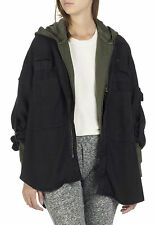 Nouveau THE KOOPLES oversize veste fluide denim avec détruit noir m sold-out