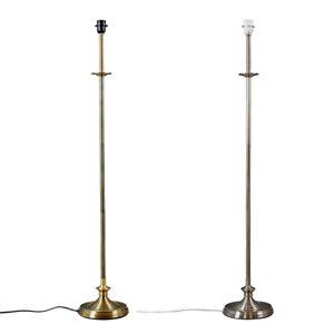 Traditional Floor Lamp Base Metal Stem Antique Brass / Brushed Chrome Light