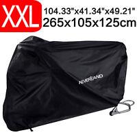 NEVERLAND XXL Waterproof Motorcycle Cover Motorbike Dust UV Sun Protection Black