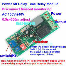AC 110V 120V 220V Power-off Delay Time Timing Switch Turn ON/OFF Relay Module