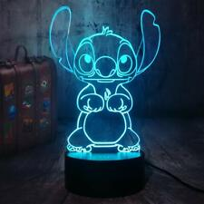 Stitch 3D Optical Illusion Colour Changing LED Lamp New
