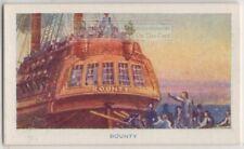 Mutiny Hms Bounty Fletcher Christian William Bligh 1789 75+ Y/O Trade Card