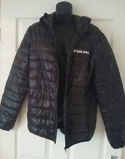 ECKO UNLTD black lightweight PUFFA COAT jacket size S