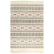 vidaXL Kelim Vloerkleed met Patroon 160x230 cm Katoen Grijs/Roze Vloer Kleed