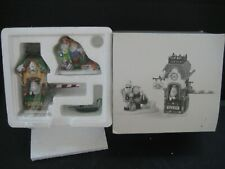 """Dept 56 Heritage Village """" End of the Line """" 2 Handpainted Accessories New"""
