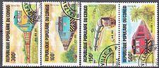 """CONGO N° 726/9 de 1984 en série complète oblitérée TTB """"les locomotives"""""""