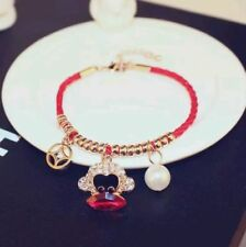 Year Bracelet made with Swarovski Elements 18K Gold Plated Lucky Red Monkey