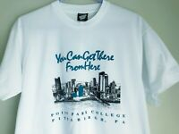 Men's XL Vintage 1990 Point Park College T-shirt University Pittsburgh PA F6