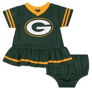 Green Bay Packers Baby Dazzle Dress & Panty Set - Gerber NFL Newborn 3-6m 6-12m