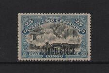 BELGIAN CONGO 1909 25c. black & blue INKISSI FALLS (SG49) *HINGED MINT*