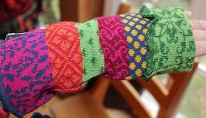 Invero Armstulpen, Evi Bonbon, tolles Muster+Farben; Merino, Neu!!