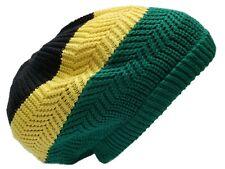Jamaica Flag Colors Beret Tam Hat Rasta Slouch Beanie Cap Dreadlocks  Black Ras