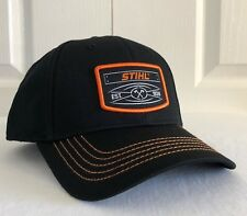 Stihl Est. 1926 Black Fabric Hat / Cap with Orange Stitching