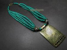 N4859 Ethnic Brass Strand Bone Third Eye Tribal FASHION WOMEN NECKLACE TIBETAN