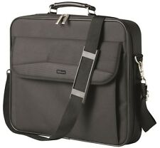 """NEW DELUXE HIGH STRENGTH TRUST 17.4"""" NOTEBOOK LAPTOP CARRY BAG CASE, BLACK 3730"""
