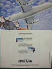 4/1992 PUB HISPANO-SUIZA COLOMBES CIGOGNE INVERSEUR NACELLE ORIGINAL FRENCH AD