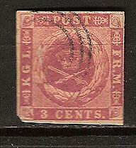 DANISH WEST INDIES # 1 Used COAT OF ARMS