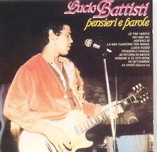 LUCIO BATTISTI Pensieri E Parole ITA Press Dischi Ricordi CDOR 8040 CD